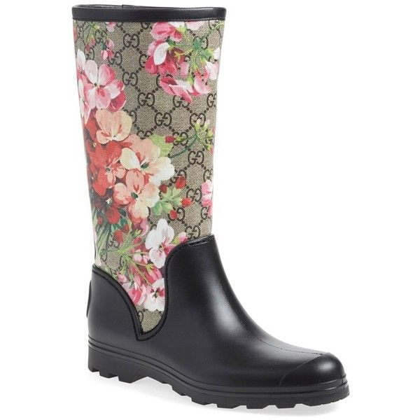 Gucci 'Prato - GG Blooms' Rain Boot (Women) available at