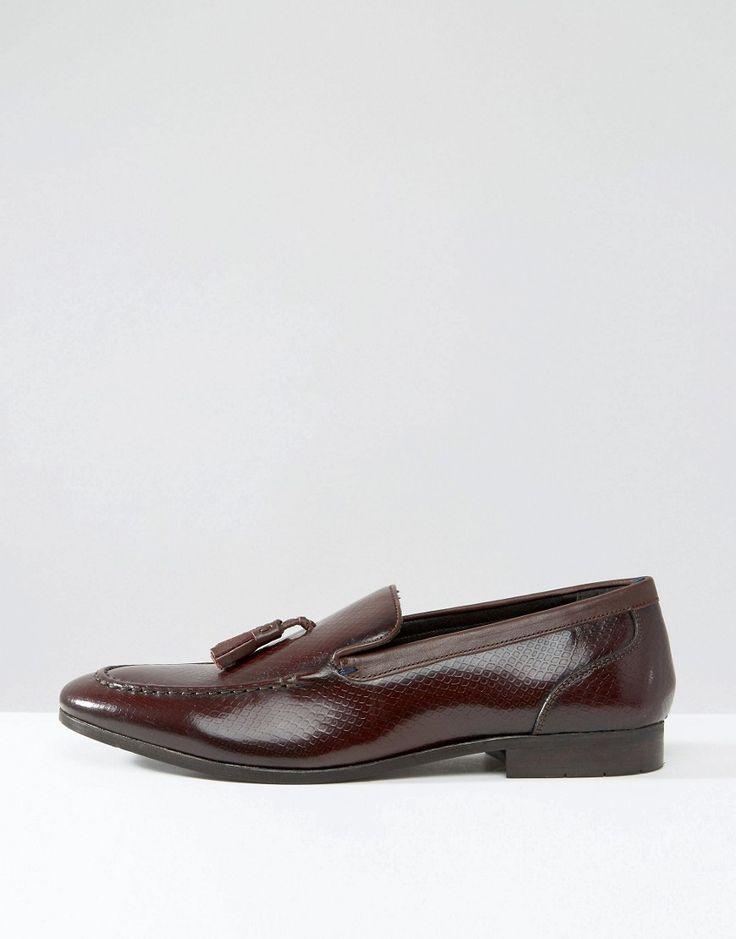KG Kurt Geiger Holman Leather Tassel Loafers - Red