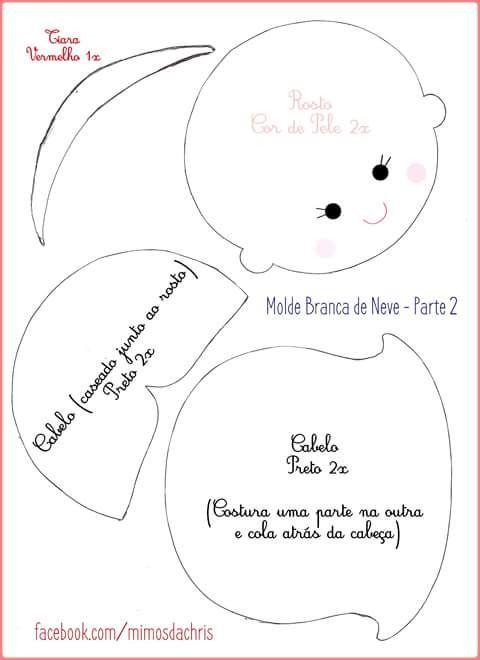 Feltro Fácil: Molde da Branca de Neve em feltro 2