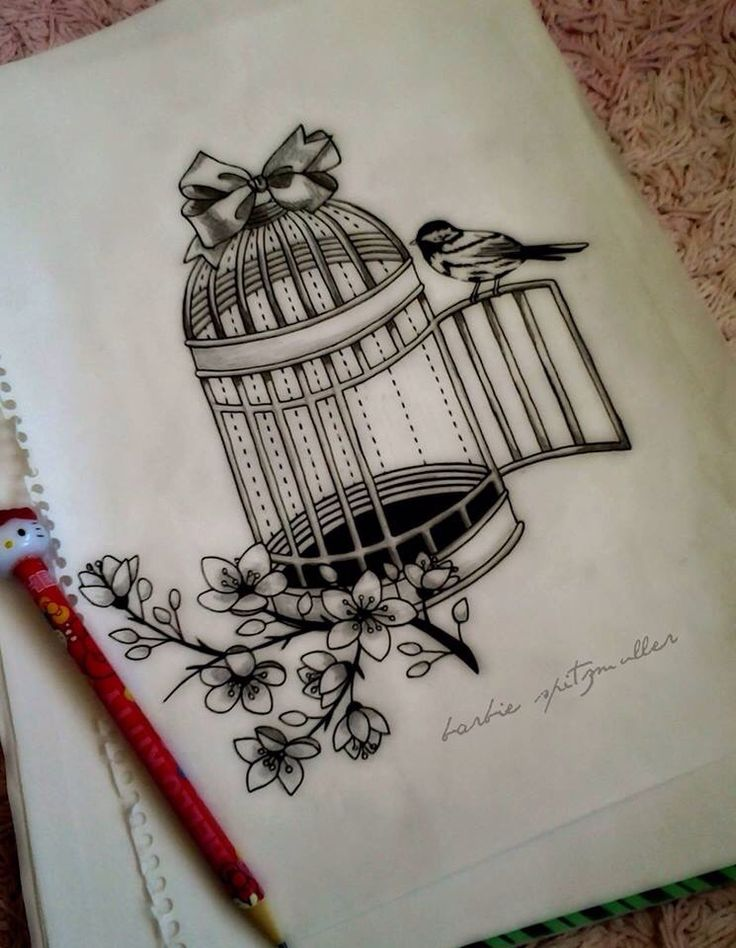 Open Bird Cage Tattoo 1000+ ideas about Feat...