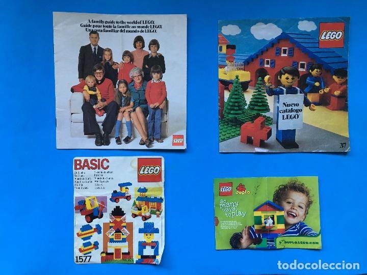 CATÁLOGOS LEGO - DOS ANTIGUOS - 1 PEGATINA DE CAJA LEGO BASIC