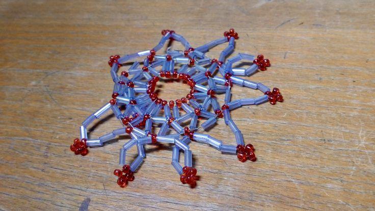 hvězda z korálků - tyčinek/ star of beads