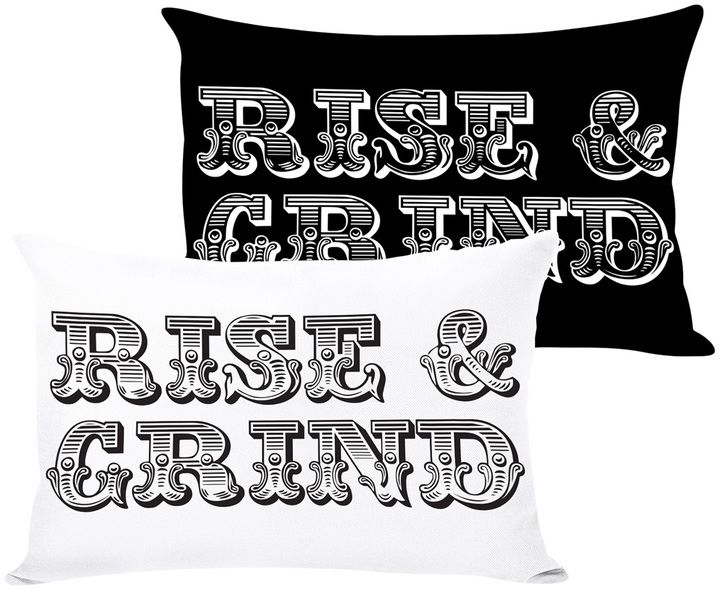 One Bella Casa Rise and Grind Reversible Pillow