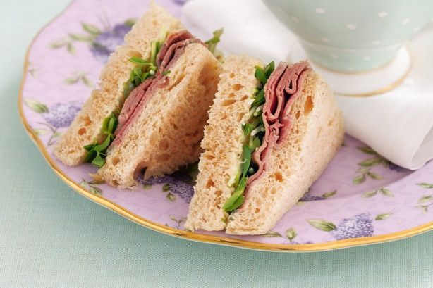 These versatile roast beef sandwiches are perfect for a work lunch-box or on a party platter.