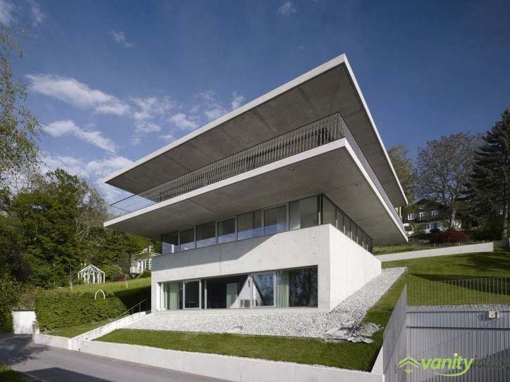 a stylish design of an idyllic house