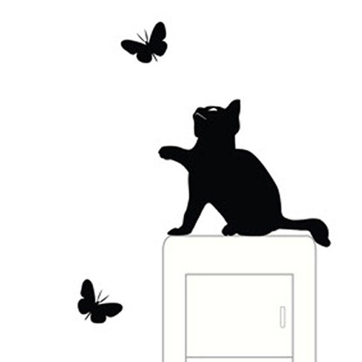 Finestra della camera Decorazione Della Parete Interruttore Del Vinile Della Decalcomania Della Decorazione wall stickers Cartoni Animati per bambini adesivo de parede para quarto