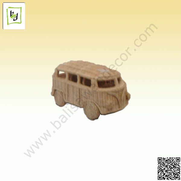 VW Combi miniature rattan by #balisawahdecor see more at www.balisawahdecor.com