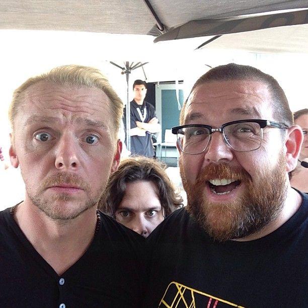 Nick Frost, Simon Pegg, ... | @Jamie Wise Wise Wise Sorensen & #SimonPegg #theworldsend #barmageddon