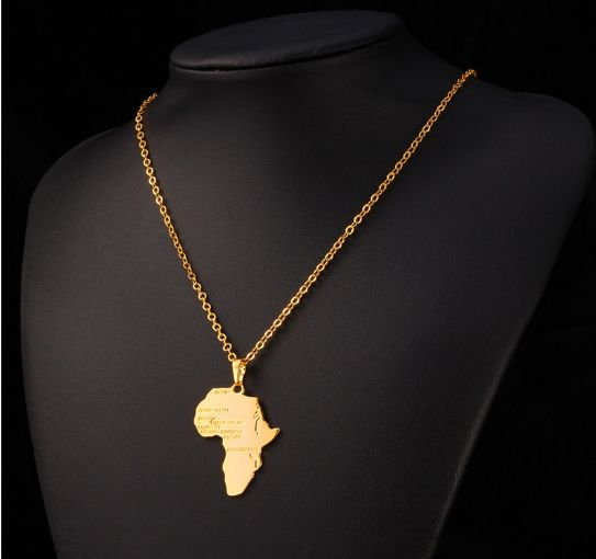 Always FREE SHIPPING! A perfect statement necklace for men and women! This unique and beautiful Africa continent pendant is sure to be worn with pride and would make an ideal thoughtful gift. Beautifu
