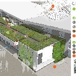 Building efficiency: Active Green Roofs - A smart green roof that can couple or decouple its thermal mass with the space to help with cooling in the summer and heating in the winter. (Read more and vote for this proposal until August 31 at http://climatecolab.org/web/guest/plans/-/plans/contestId/11/planId/1303909 ) #climatevote