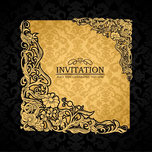 154 best 1wedding invitations and other print images on elements of luxury invitation background vector 01 stopboris Image collections