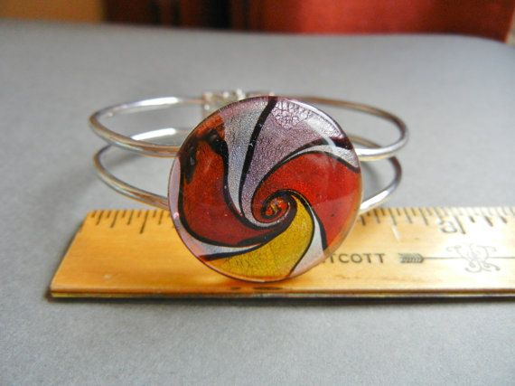 Murano glass hinged bangle murano glass by sweetjanesaddiction