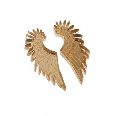 Gold Pegasus Mirror Earrings from Tatty Devine $59