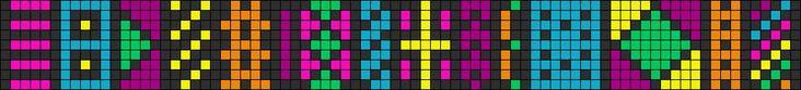 Alpha Friendship Bracelet Pattern #7713 - BraceletBook.com