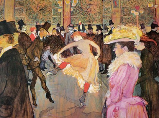 Toulouse Lautrec just makes you want to take a time machine back to Paris in the 1890's
