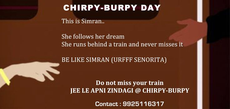 Do not Miss your Train... Be like Simran... Join with us @ #MyChirpyBurpy Flea from 29th April - 1st May!
