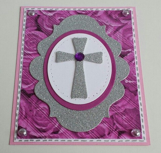 Rosen, Kreuz, Roses, Cross, Verve Stamps, Spellbinders, Embossing-Folder Serviettentechnik,  Napkins
