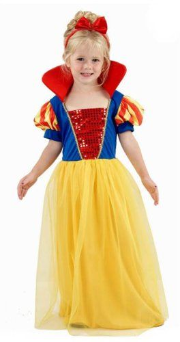 From 7.34 Girls Snow White Princess Fancy Dress Costume Toddler