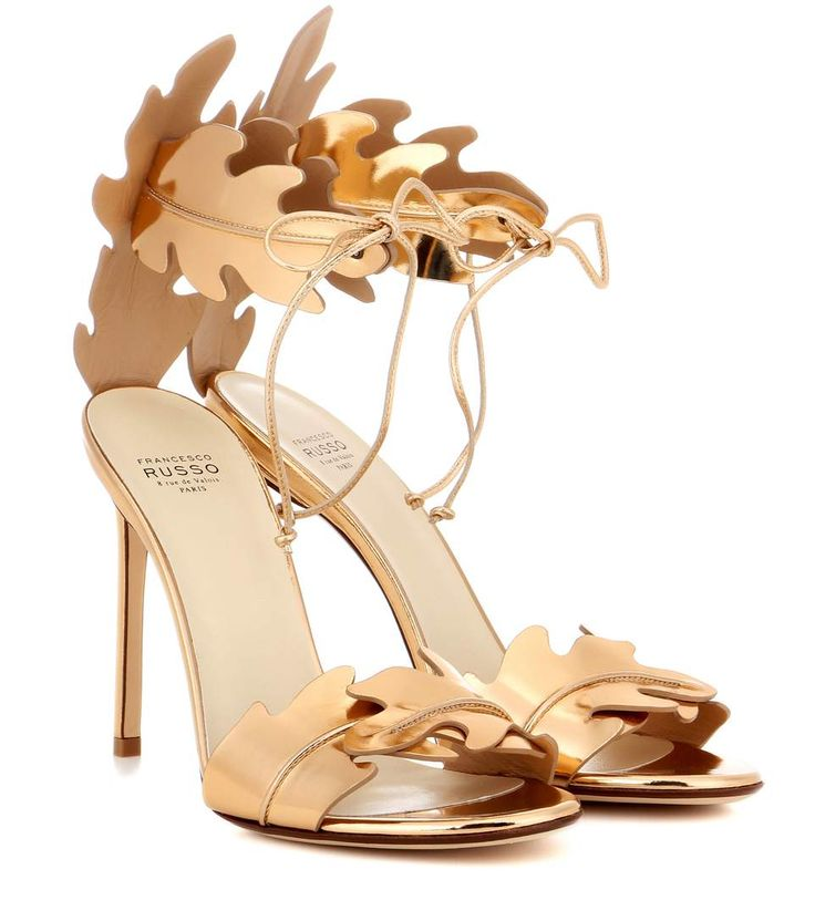 mytheresa.com -  Metallic Leather Sandals - Francesco Russo | mytheresa.com - Luxury Fashion for Women / Designer clothing, shoes, bags