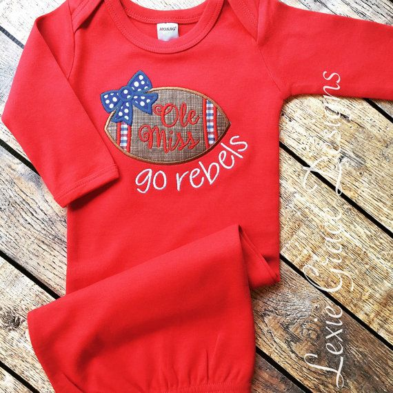 Hey, I found this really awesome Etsy listing at https://www.etsy.com/listing/241833957/ole-miss-baby-layette-gown-ole-miss