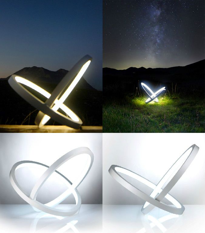 The Infinity Lamp Is Just That. Minimal Yet Heavy On The Symbolism, The Lamp.  Infinity PicturesFunky LightingAesthetic DesignUnique ...