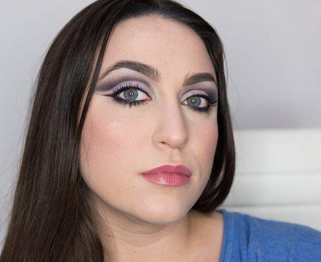 Lavender cut crease eye look