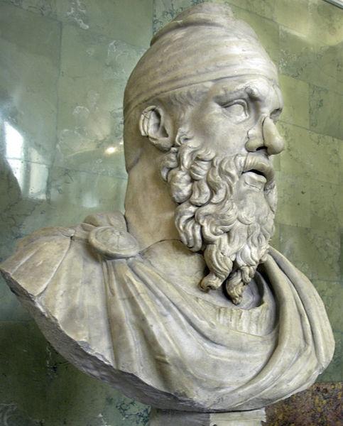 File:Roman bust of a Dacian tarabostes, Hermitage, St Petersburg, Russia -