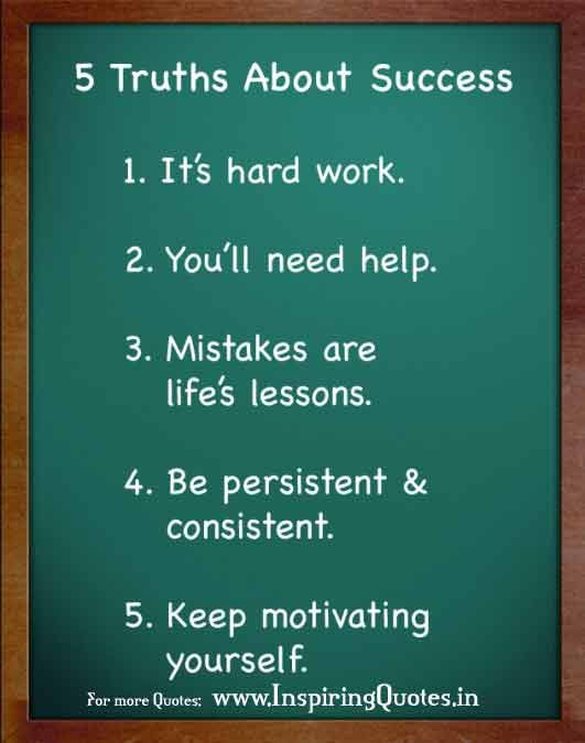 5 Truth about Success in Life - Motivational Life Quotes www.greennutrilabs.com