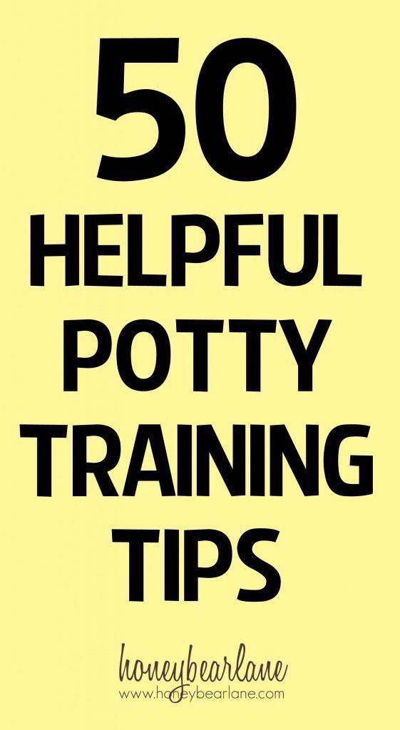50 helpful potty training tips