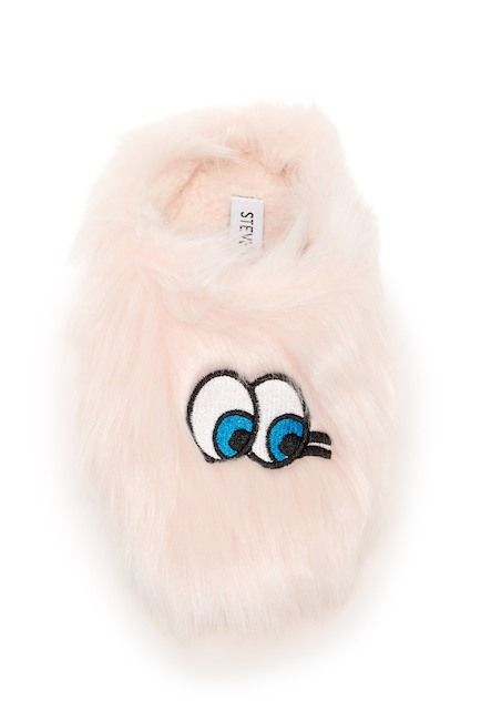 Image of Steve Madden Eyes Faux Fur Slipper (Little Kid & Big Kid)
