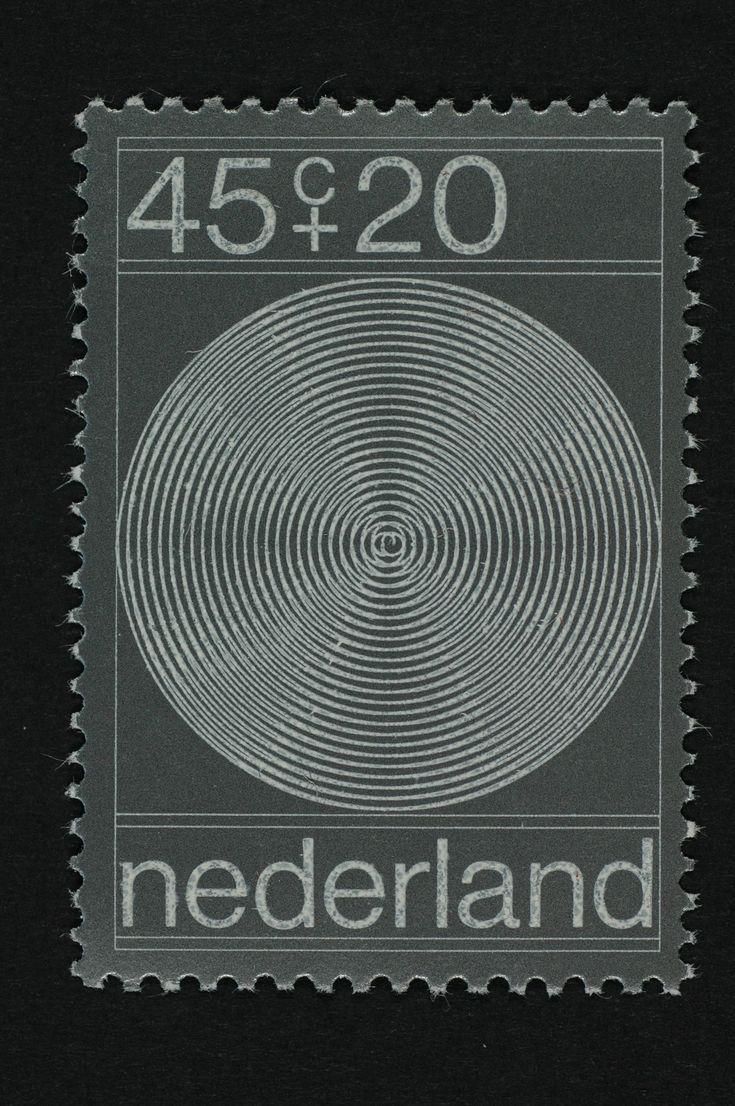 1970 Postzegel Nederland, Zomerpostzegel Vier spiralen