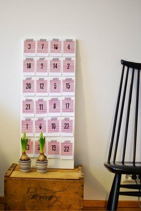 DecoDreamer's Diary: DIY joulukalenteri / DIY advent calendar, polaroid