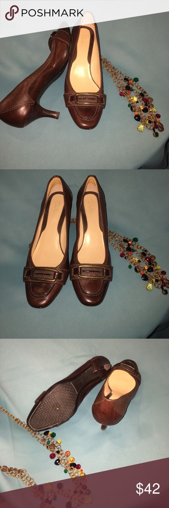 Cole Hann brown leather pumps 8.5 M Beautiful brown leather Cole Hann pumps, excellent condition, minor signs of wear. Cole Haan Shoes Heels