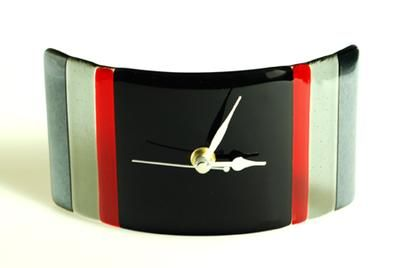 Handcrafted Fused Glass Clock - Twilight Clock by Callula Glass - 20cm x 10cm £40.00... love/need :-)