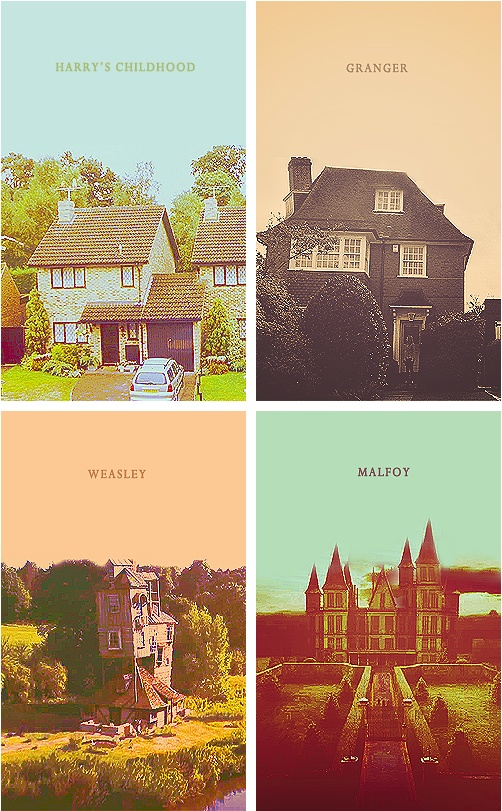 Harry's house, Hermione's house, Ron's house & Draco's house. Clearly the Burrow wins.
