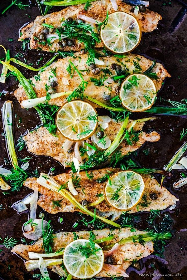 Baked sole fillet done the Mediterranean way. It's only February, don't give up on the healthy eating just yet!