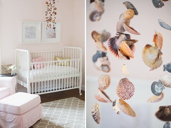 pink nursery baby girls nursery beach theme room beachy chic nursery baby - Baby Wall Designs