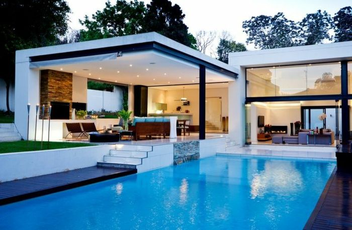Moderne architektenhäuser mit pool  Pool & Terasse | House exterior | Pinterest