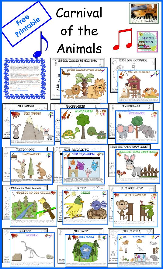 carnival of the animals activities english spanish free pdfs kindergarten first grade. Black Bedroom Furniture Sets. Home Design Ideas