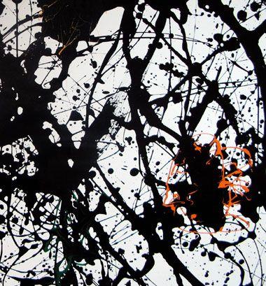 Jackson Pollack - Summertime #9A, Detail - Tate Modern London
