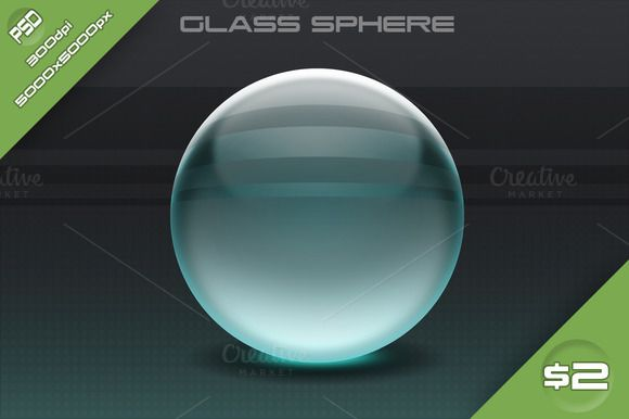 Glass Sphere by stallfish's art store on @creativemarket