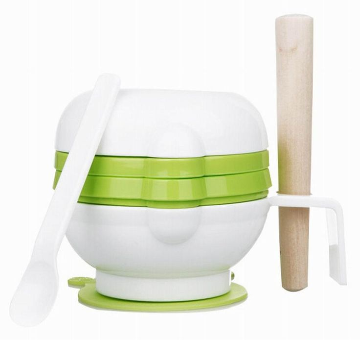 Practical Baby Food Grinding Bowl Grinder Food Mill for Making Baby Food, Green