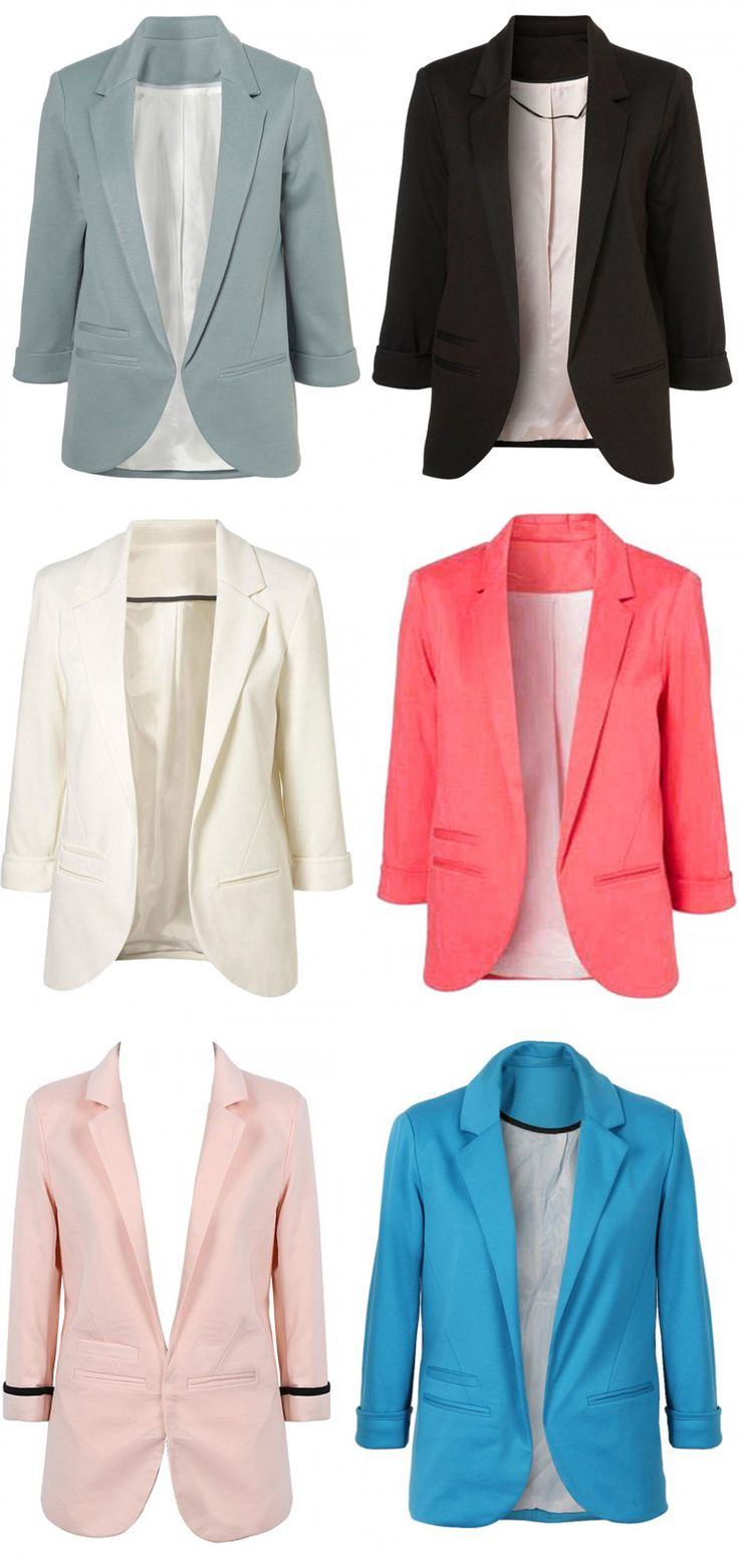 Six different color blazer now sold on Choies.com with low price. Choose one color you love on the website.