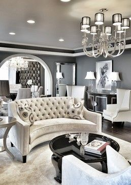 Neman Residence - transitional - Living Room - Los Angeles - Steven Cordrey Interior Design