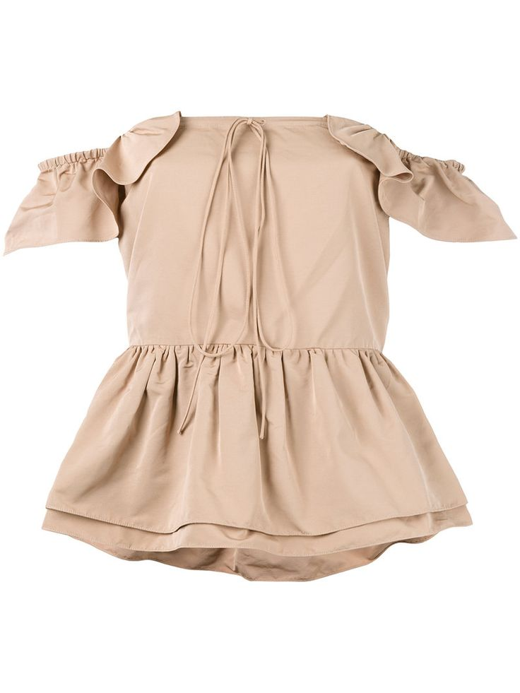 ¡Cómpralo ya!. Rochas - Layered Ruffle Bardot Top - Women - Cotton/Polyester - 40. Light beige layered ruffle bardot top from Rochas. Size: 40. Color: Nude/neutrals. Gender: Female. Material: Cotton/Polyester. , tophombrosdescubiertos, sinhombros, offshoulders, offtheshoulder, coldshoulder, off-the-shouldertop, schulterfreiestop, tophombrosdescubiertos, topdosnu, topspallescoperte, hombrosdescubiertos. Top hombros descubiertos  de mujer color beige de ROCHAS.