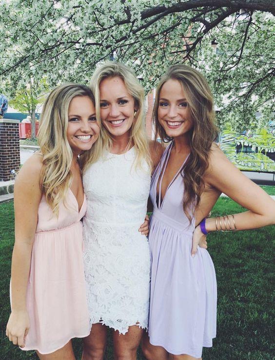 V Neck Prom Dress,Chiffon Prom Dress,Fashion Homecoming Dress,Sexy