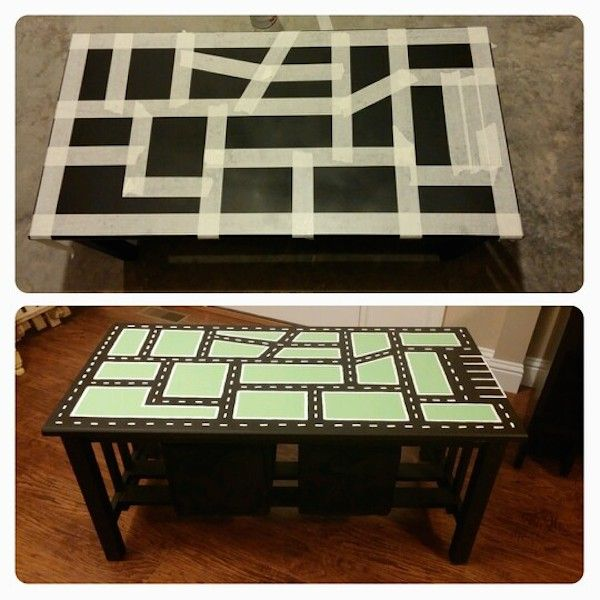 Upcycled Coffee Table Race Track from Pequeocio