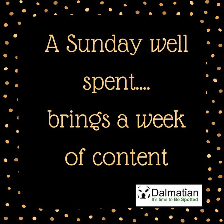 A Sunday well spent brings a week of contentment. Sunday positivity. Weekend quotes