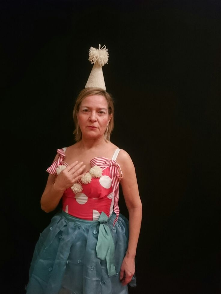 Circus outfit for a Xmas party. Probably inspired by Tove Jansson.
