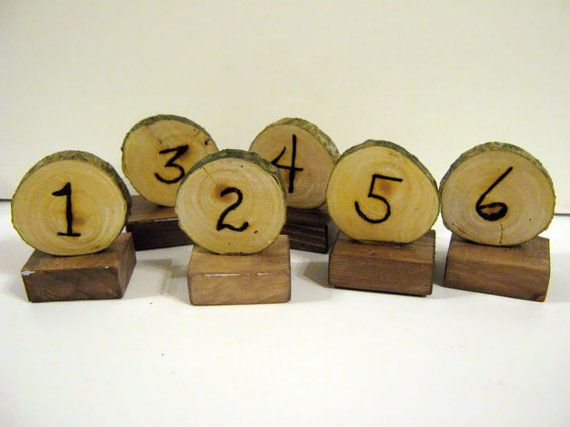 Rustic wedding table markers--very cute--very inexpensive!